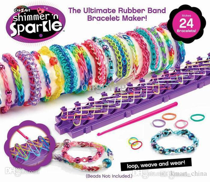 2020 Let S Glow Crazy Theme Kit: Shimmer 'N Sparkle Rainbow Loom Kit Cra Z Loom Bracelet