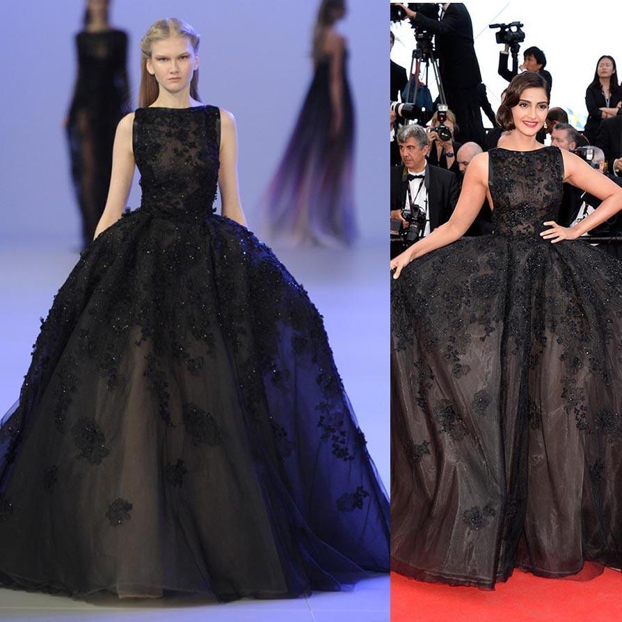 Ball Gown Black Nude Organza Zuhair Murad Evening Dresses 2014 ...