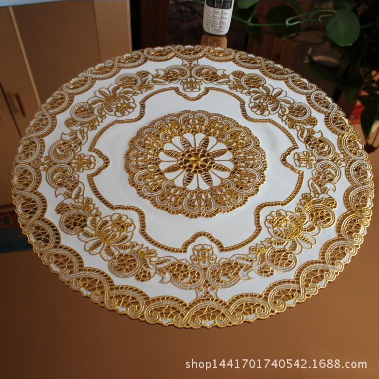 acheter nappe en plastique creux table ronde mat tapis de table