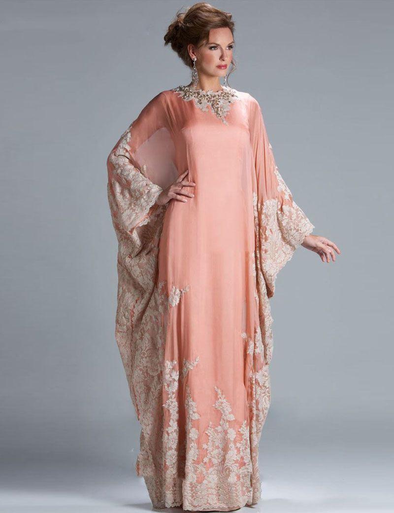 Großhandel Luxus Lace Dubai Abaya Abendkleider Long Sleeve Appliques ...