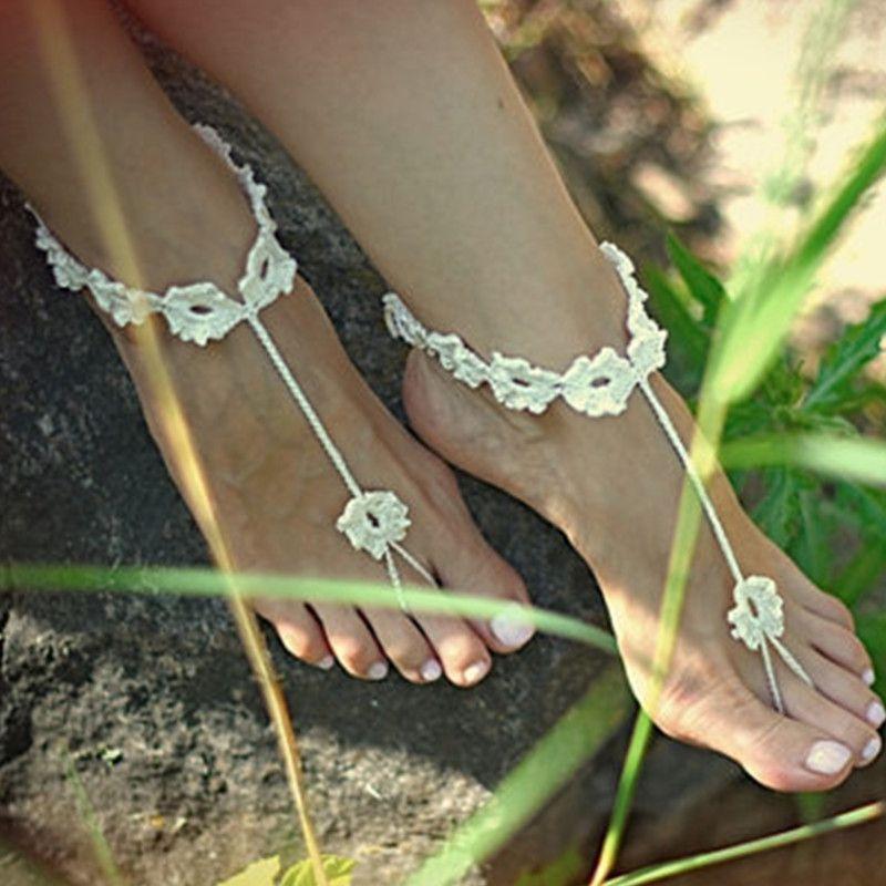 Großhandel 1 Paar Oder Häkeln Barfuss Sandalen Fuß Schmuck