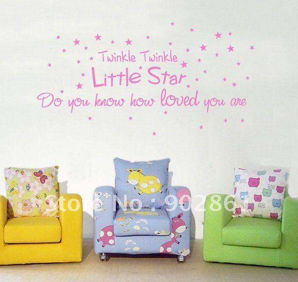 Funlife Wall Quote Nursery Room Twinkle Twinkle Little Star For Kids  300x1006mm Sticker Decor For Walls Sticker Decorations For Walls From  Fatboss, ... Part 84