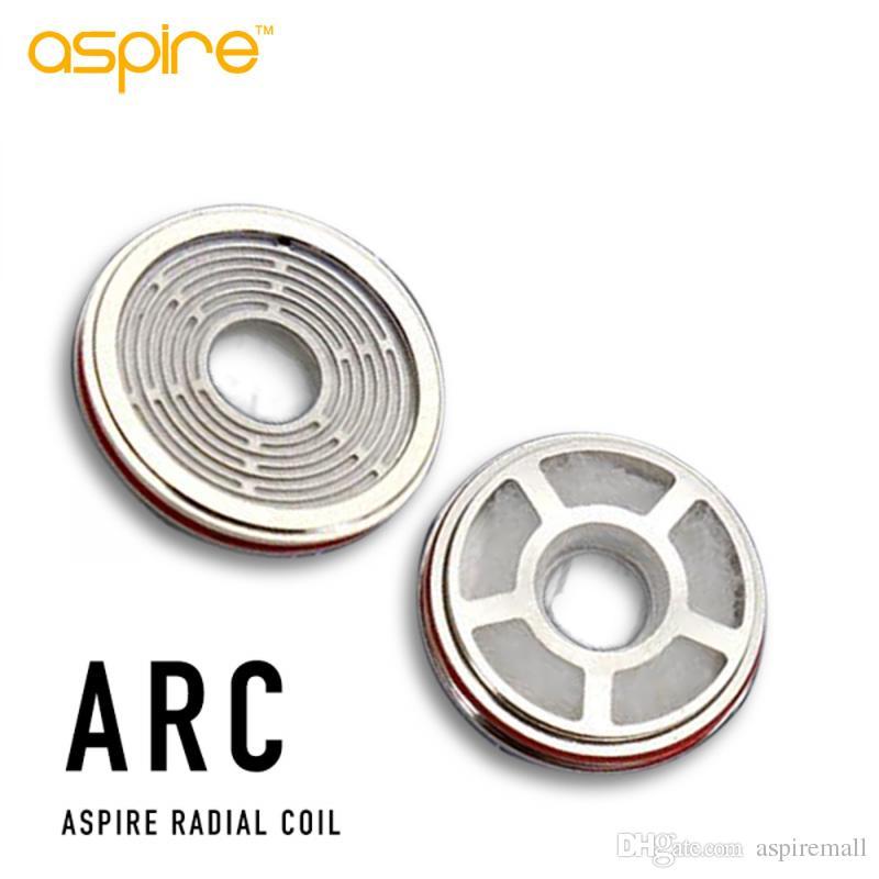 100% originale Aspire Revvo serbatoio ARC Aspire Radial Coil sostituzione della bobina testa Skystar / Tifone Kit 0.1 ~ 0.16ohm Stove Top atomizzatore