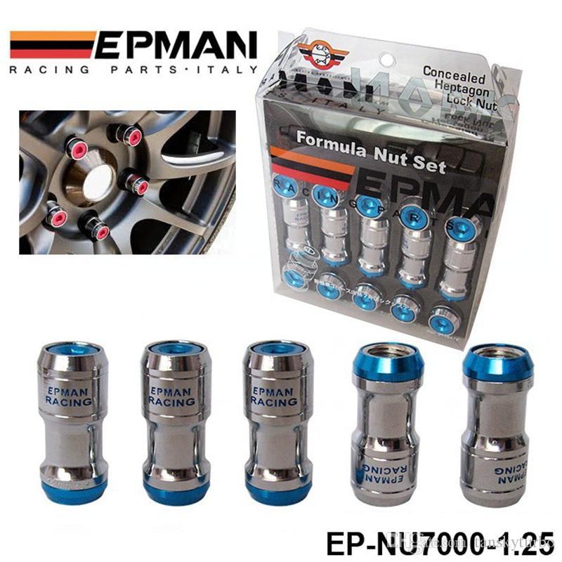 本格的なEPMAN Racing LugのホイールナッツねじM12 x 1.25 20ピースのためのトヨタのための20個の車の車のための車のために赤いEP-NU7000-1.25