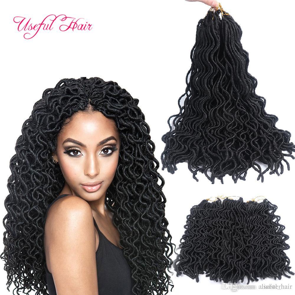 "Christmas gift Deep wave blonde hair extensions 20"" SOFT DREADLOCKS WAVING CURLY GODDESS LOCkS CROCHET BRAIDS hair synthetic braiding hair"