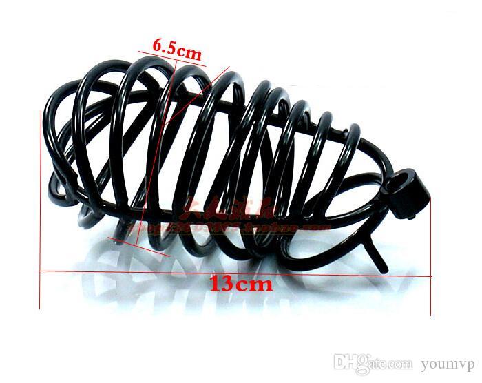 Le dispositif masculin de chasteté la cage de pénis de coq de chasteté d'acier inoxydable avec le sexe de cadenas d'anneau joue 40mm / 45mm / 50mm SM440