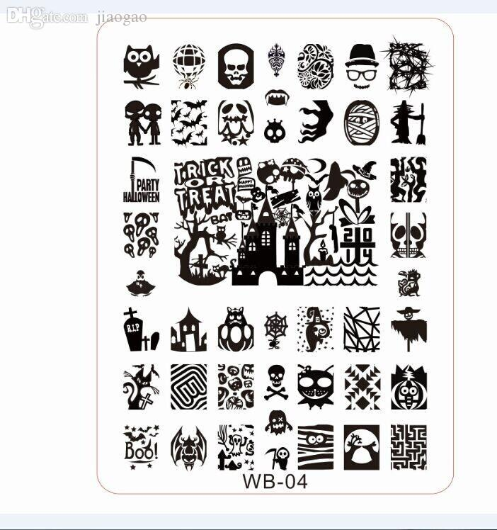 Wholesale 2015new konad stamping plates wb01 05 konad stamp nail wholesale 2015new konad stamping plates wb01 05 konad stamp nail art 21145cm xl image plate template designer 5plates foil nail art how to nail art from prinsesfo Images