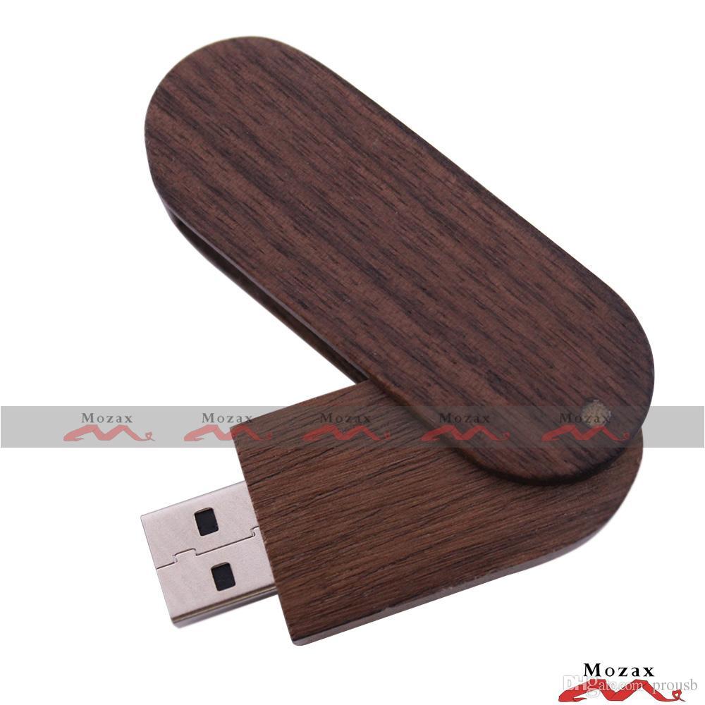 128MB 256MB 512MB 1GB 2GB 4GB 8GB 16GB Swivel Wood USB Flash Drive 2.0 Wooden Memory Flash Pendrive Stick True Storage