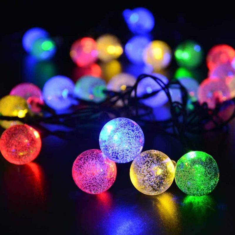 Wholesale solar globe 50 led ball string lights solar powered wholesale solar globe 50 led ball string lights solar powered christmas light patio lights lighting for home garden lawn party decorations string outdoor aloadofball Choice Image