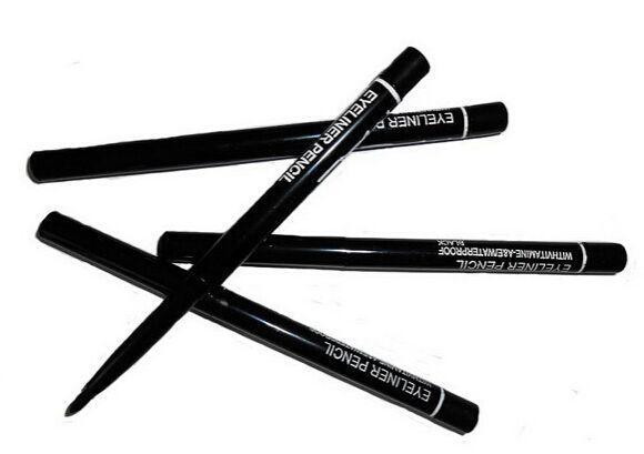 12 teile / los KOSTENLOSER VERSAND marke Make-Up Rotary Retractable Schwarz Eyeliner Pen Pencil Eye Liner