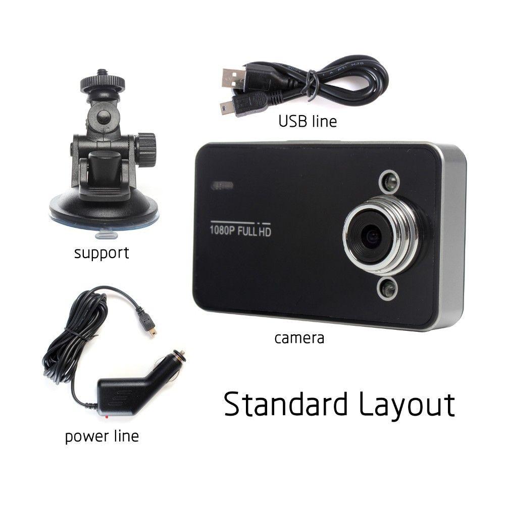 DVR K6000 NOVATEK 1080P Full HD LED Grabador nocturno Tablero de instrumentos Visión Veicular Cámara dashcam Carcam video Registrator Coche DVR