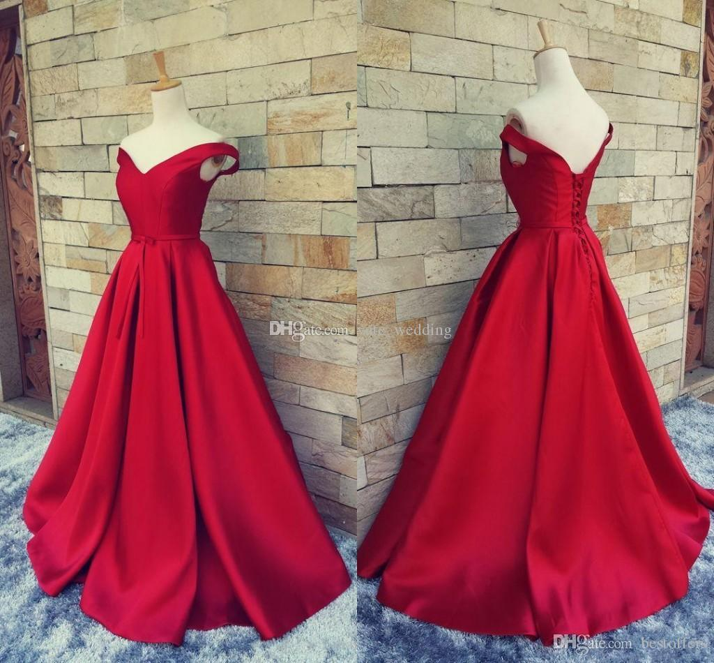 Actual Pictures Red Long Runaway Red Carpet Evening Dress For Women ...