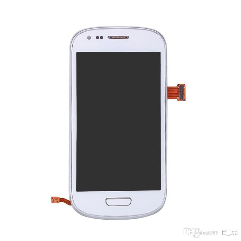 Display LCD originale Samsung Galaxy S3 Mini i8190. Display touchscreen. Sostituisci bianco blu scuro con assemblaggio telaio 100% testato