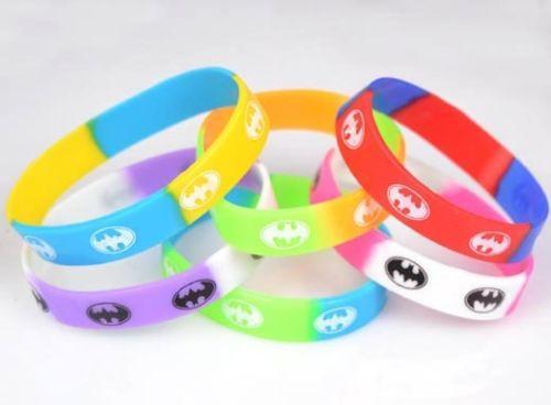 Бэтмен силиконовый браслет Браслет мультфильм косплей партии многоцветный спорт наручные группа