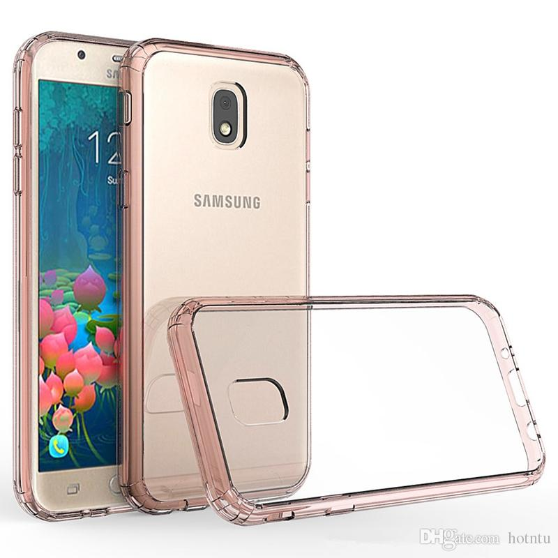 Transparent Case For Samsung Galaxy J5 2017 J320 European Soft TPU Bumper + Clear Back Cover Hybrid Shockproof Mask Scratch Resistant