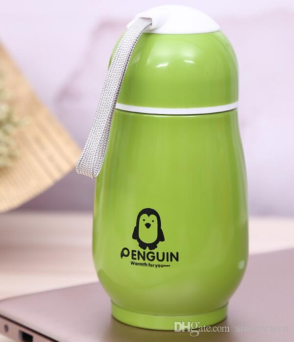 300 мл детский мультфильм пингвин из нержавеющей стали вакуумный кубок Кубок вакуумный Кубок мультфильм чашки изоляции около 2 часов