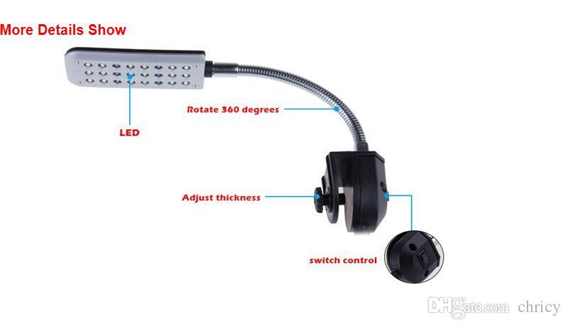 12V 24 Luz de acuario LED Tanque de peces Planta de agua Peces tropicales 3 Modo Clip Lámpara de bombilla blanca / azul con CE ROHS Aprroval