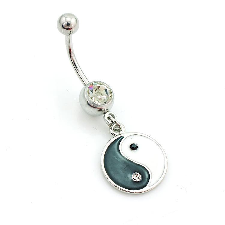 Gran cantidad de anillos de vientre de moda anillos de acero inoxidable 316L cuelga la joyería de la perforación del cuerpo del ombligo de Tai Chi
