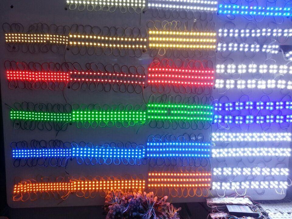 الخلفية 500X بقيادة وحدة لوحة LED ضوء مصباح 5050 SMD 6 المصابيح 120 التجويف أخضر / أحمر / أزرق / دافئ / أبيض مقاوم للماء IP65 DC 12V بواسطة DHL