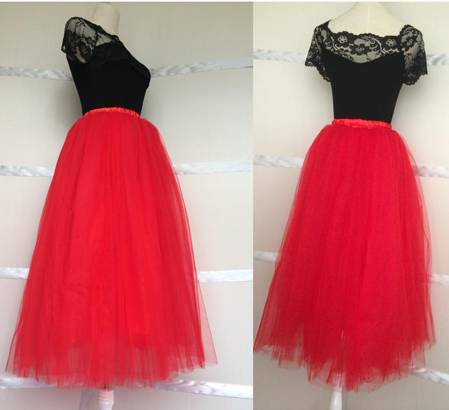 c3e9b5416e 2019 Bouffant Red Tulle Skirt Women 5 Layers Adult Tutu Long 29.5 Birthday  Party Wedding Bridesmaid All Colors From Mumufashion, $34.21 | DHgate.Com