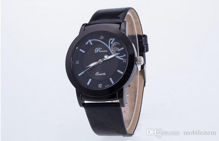 Geneva watches Roman Numerals women Sport Watch Faux leather quartz Exquisite wrist For mens Watches Automatic Luxury women 191