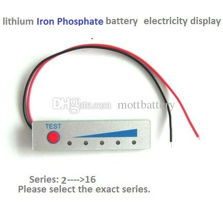 led light electricity voltage display board for lithium ion and lithium iron phosphate battery optional series from 1 to 16