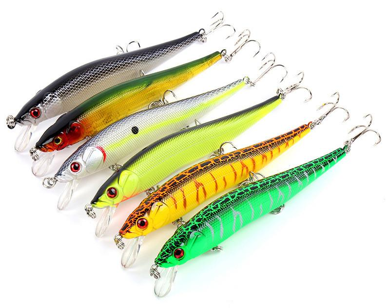 Underwater Channeling Move Artificial Plastic Fishing Lures 12cm 14g Shen Swimming Depth 0.8-2.4m Minnow Laser Bait