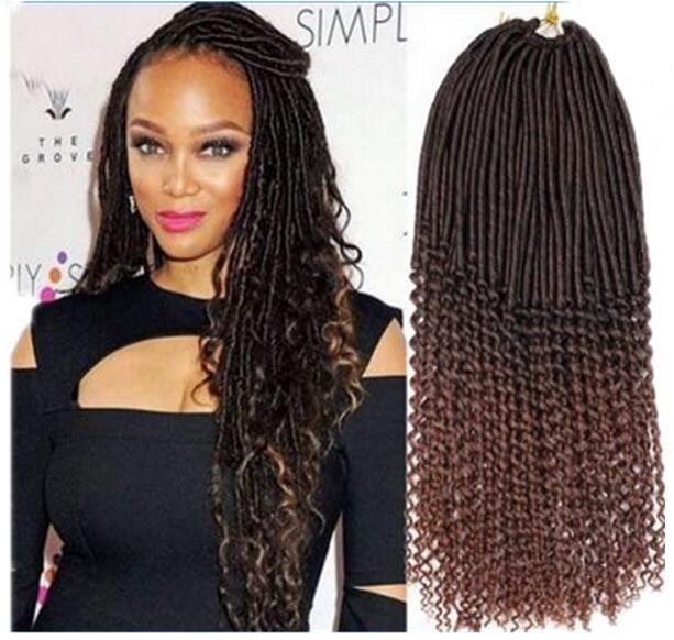 Dreadlocs Hair Extensions Synthetic Faux Locs Crochet Braids Black