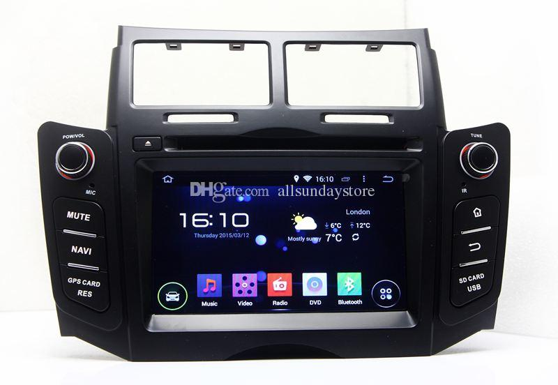 8 Core Android Car DVD GPS Player Radio For Toyota Yaris GPS Navi 2005 2011 BT