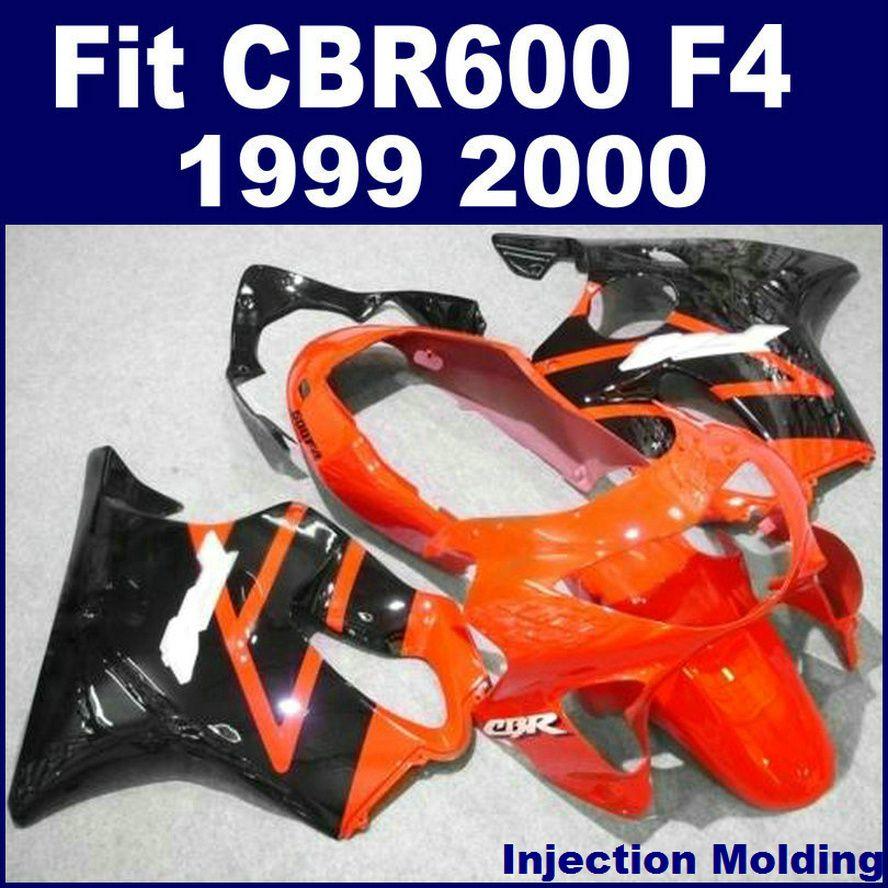 حقن صب لهوندا أجزاء إصلاح الجسم fairings CBR 600 F4 1999 2000 أحمر برتقالي 99 00 cbr600 f4 fairings G7HJ
