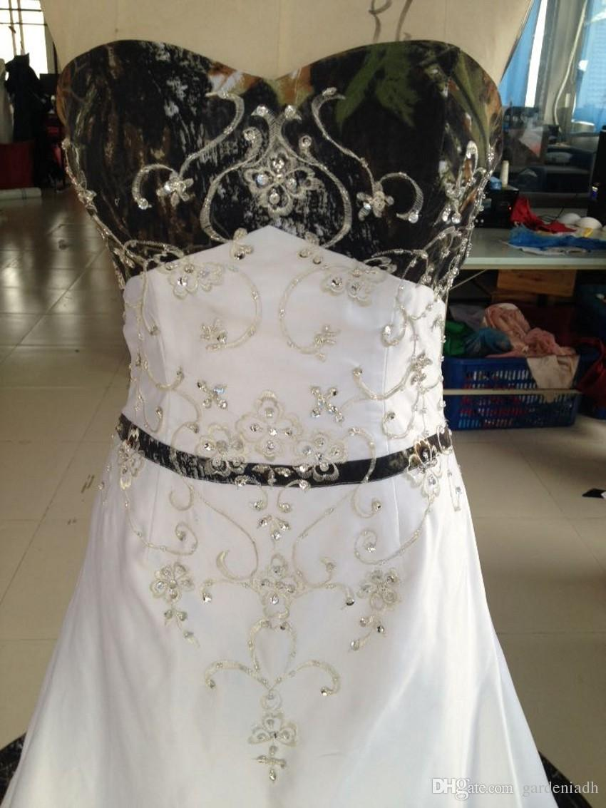 Discount 2015 Cheap Camo Wedding Dress Real Picture