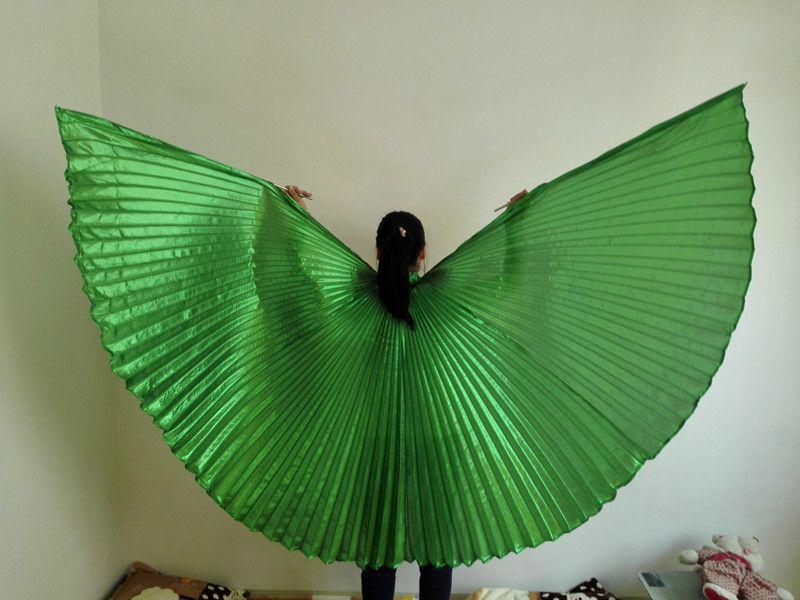 Дети угол Крылья танец живота Крылья египетский танец живота костюм Isis Крылья танцевальная одежда для детей девочек без палки 9 цветов