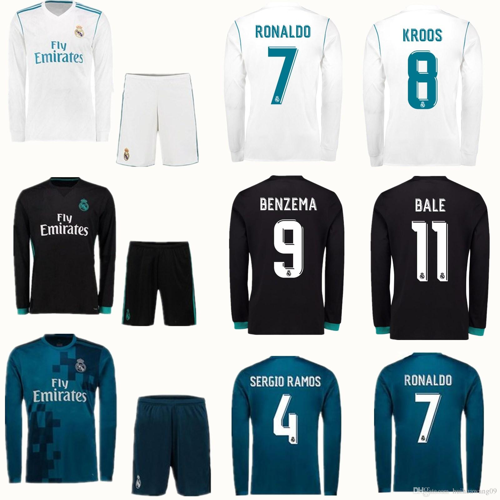 low priced 68bec 278ea real madrid kit long sleeve