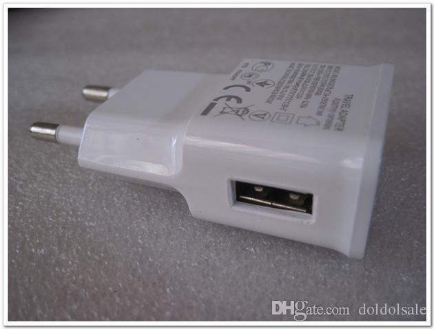 300 unids USB Cargador de pared 5V 2A EU EE. UU. Adaptador de viaje de CA para Galaxy Note 2 3 N7100 N9000 S3 S4 S5 I9600 Fuente de alimentación de alta calidad