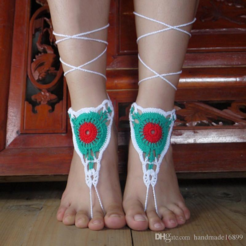 SchuheFuß SpitzeSexy FußketteSteampunkFüße SchmuckViktorianische Häkeln Hippie Yoga Paisley Nude Barfuss Sandalen Zubehör RiemenBoho SMUzpqV