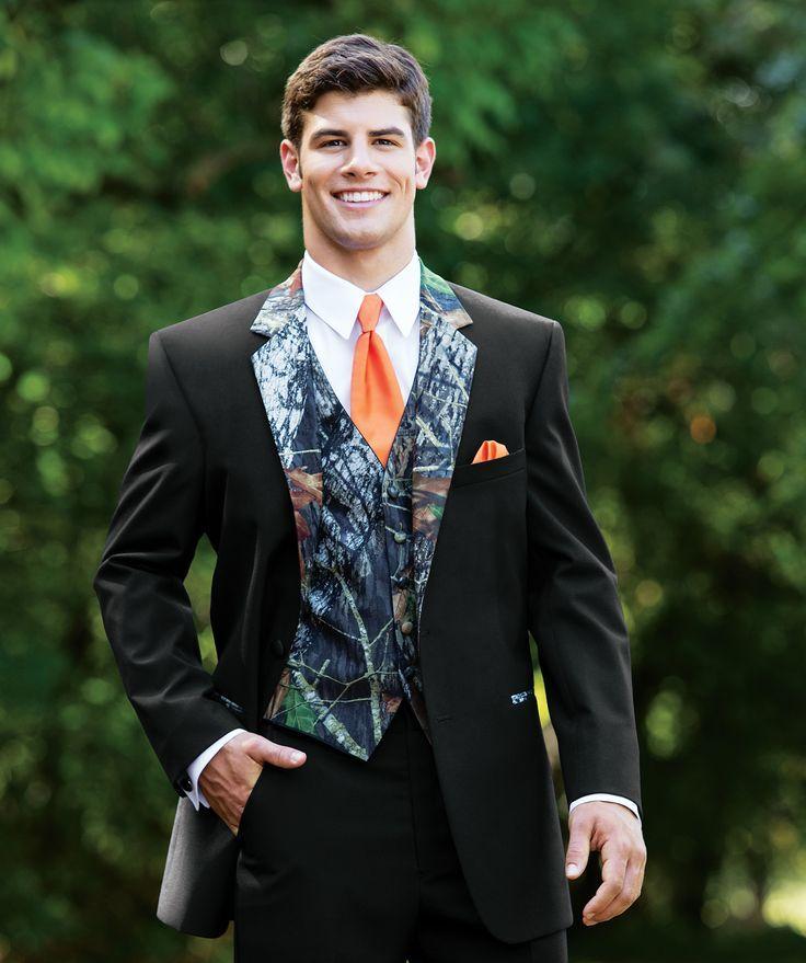 2015 New Camouflage Tuxedos Unique One Button Camo Mens Wedding ...