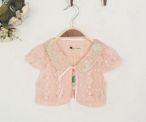 2015 New Baby Girl Summer Shawl Child Short Sleeve Cardigan Thin ...