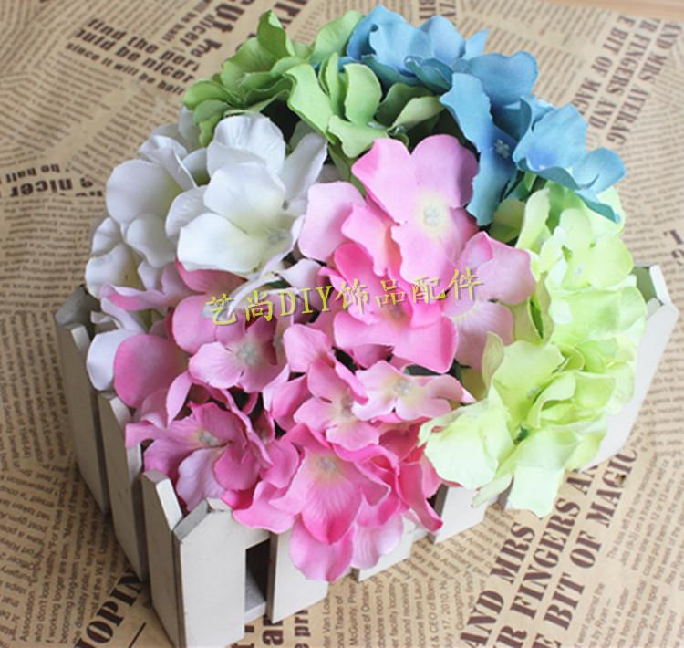Diy Hydrangea Silk Flowers Head Artificial Flower Simulation Arches For Wedding Decoration Supplies Online With