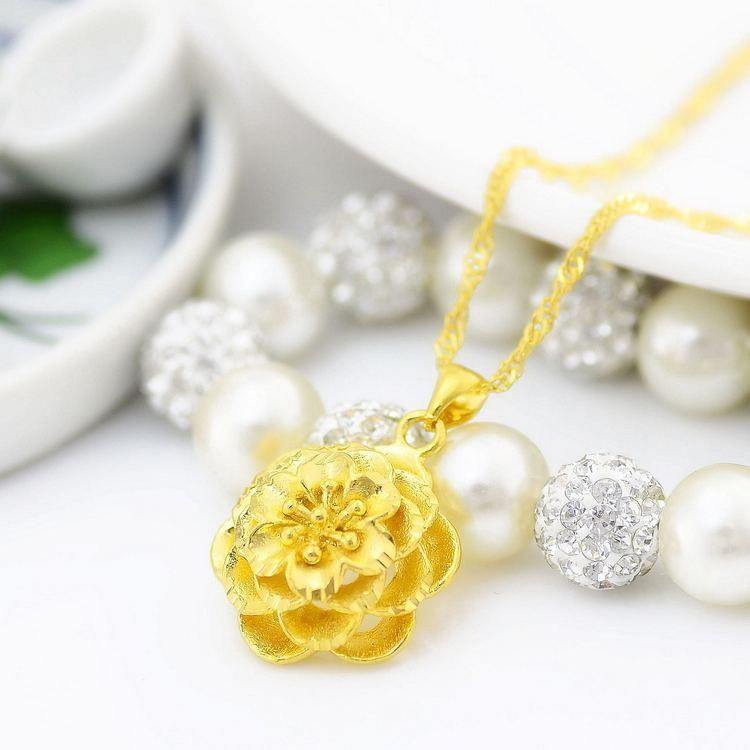 Wholesale delicate gold rose gold pendant chain necklace female see larger image aloadofball Choice Image