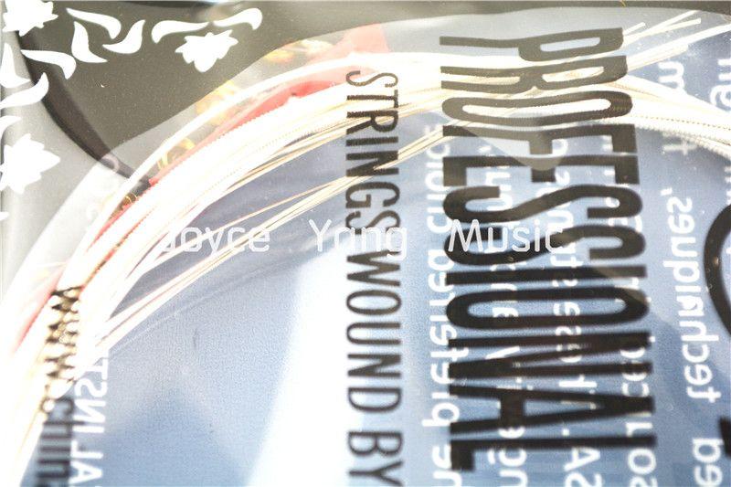 Alice AW332 Licht Akustik-Gitarren Saiten versilbertem Kupfer Wound Saiten Vergolden Ball End-freies Verschiffen