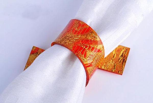 Altın Peçete Halkaları gümüş yüzük düğün Peçete Halkaları Noel Tatili restoran masa Dekorasyon için 5 cm akrilik halka peçete