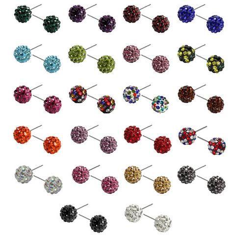 Véritable cristal Disco Ball Lady Shamballa Stud 18K, DIA10mm, strass brillant, qualité hign et livraison gratuite