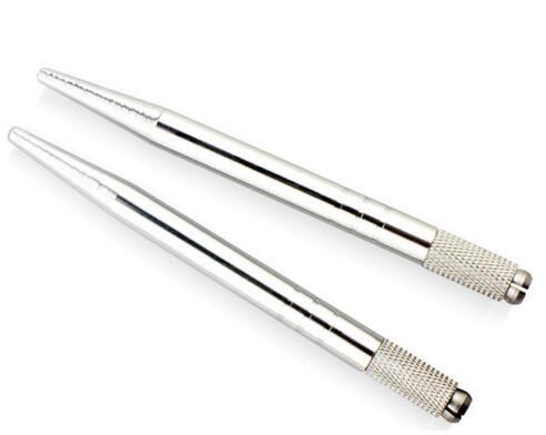 Manuel Argent Aluminium Professional Tattoo Permanent Pen Maquillage Pen 3D Tatouer Sourcils broderie MicroBlading Pen