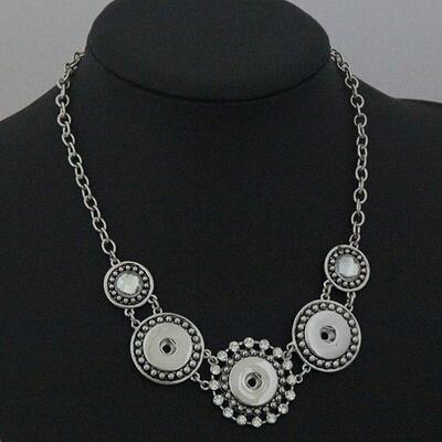 3 Snap Statement 스냅 보석류 Gingersnaps jewelry, Noosa, 목련 포도 나무와 같은 브랜드의 목걸이, 스냅인 매력