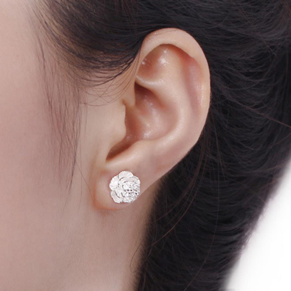 2015 newest sterling silver earings vintage flower statement earings for women jewelry wedding earings