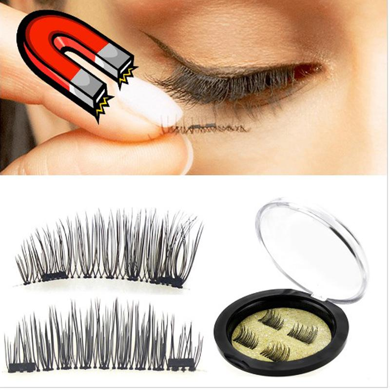 New Easy To Wear 3d Magnetic False Eyelashes 11 Styles Double Magnet