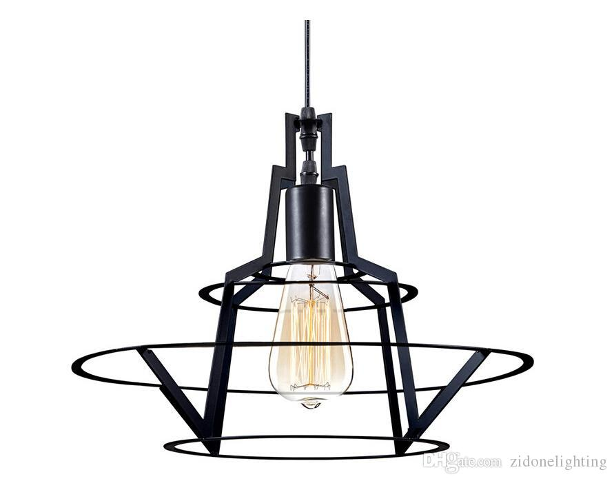 New Design Modern Barn Metal Wire Pendant Lights With E27 Lampholder ...