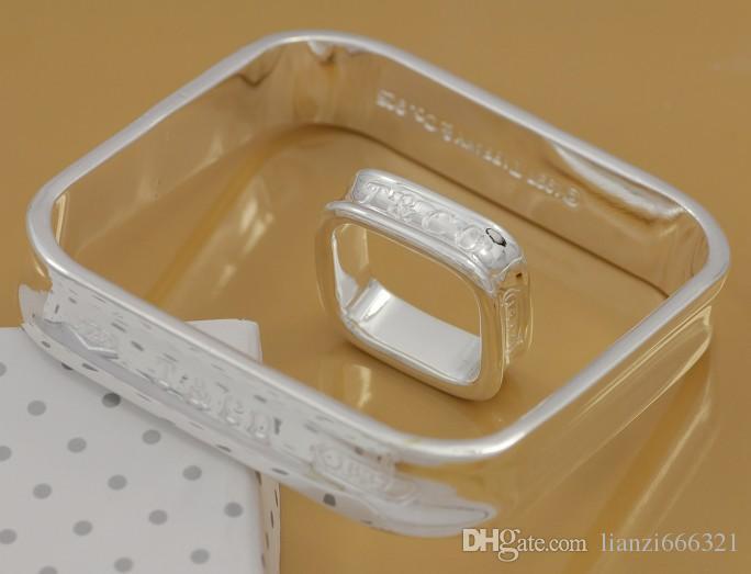 Freies Verschiffen mit Spurhaltungszahl am besten heißer Verkauf der Frauen empfindliches Geschenk Schmuck 925 Silber überzogene Mischungs-Schmucksache-Set 12 gesetzte 1045