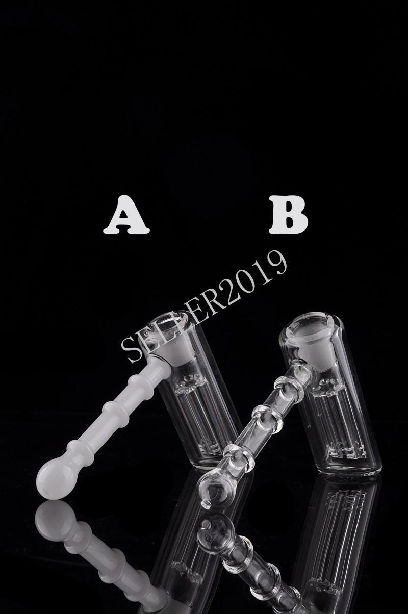 100% Real Image Glass Bongs Water Pijpen Hamer 6 ARM PERC Slaapper Percolator Bubbler Olie Rigs Glazen Bongs Pijpen Tabak Pijp Recycler Glas