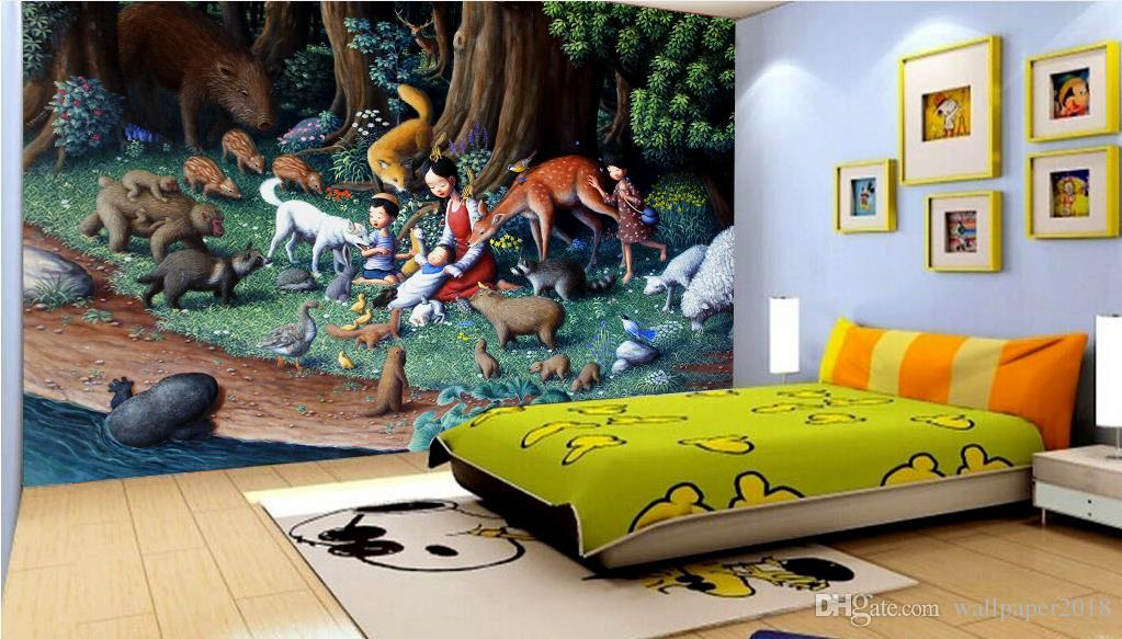 Dream Forest Painting Children S Room Wall Background Wall Papers Home Decor Living Room